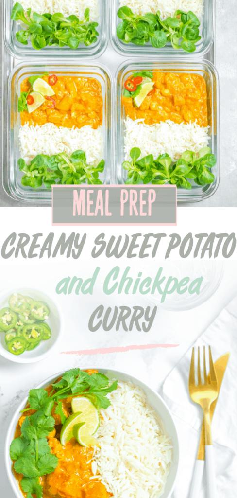 sweet potato curry pintrest image