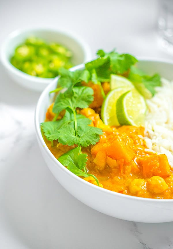 bowl of sweet potato curry