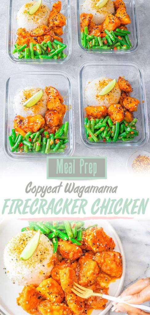 Wagamama Firecracker Chicken Recipe pinterest pin