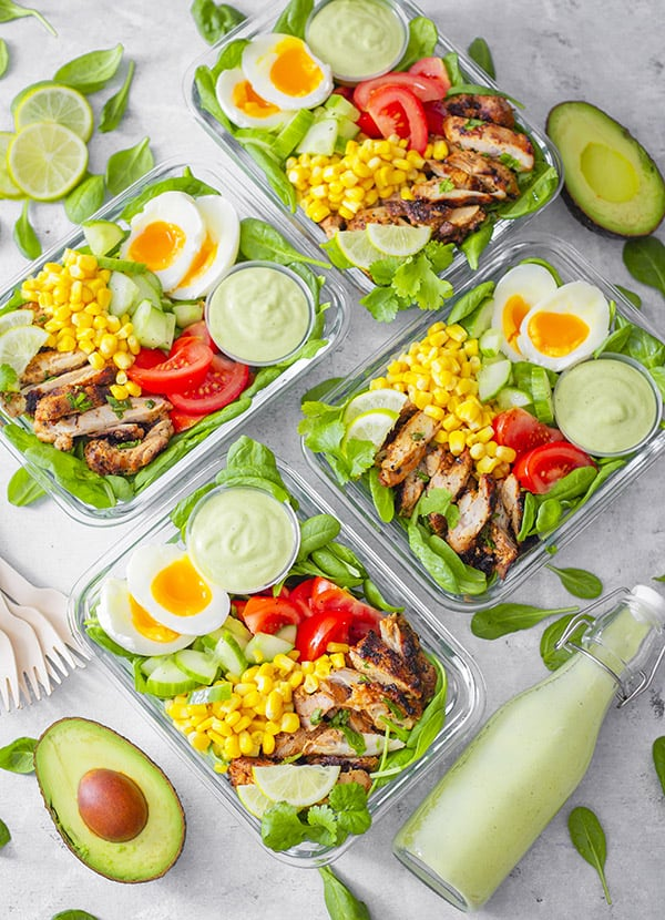 Grilled Lime Chicken and Avocado Salad