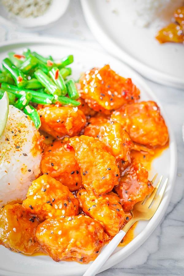 Wagamama Firecracker Chicken on a plate