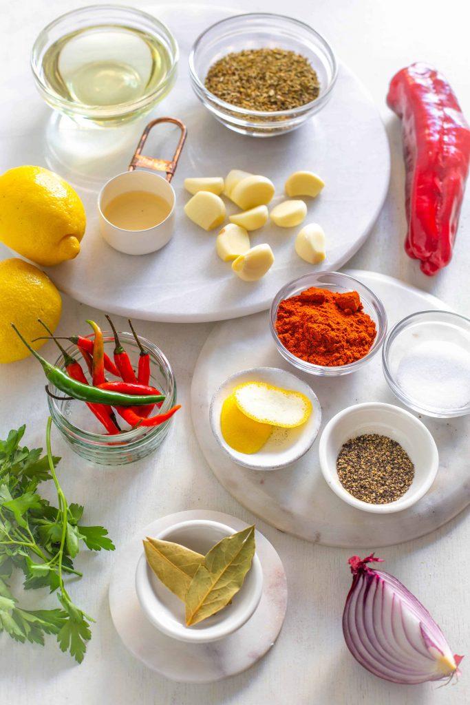 peri peri sauce ingredients shot
