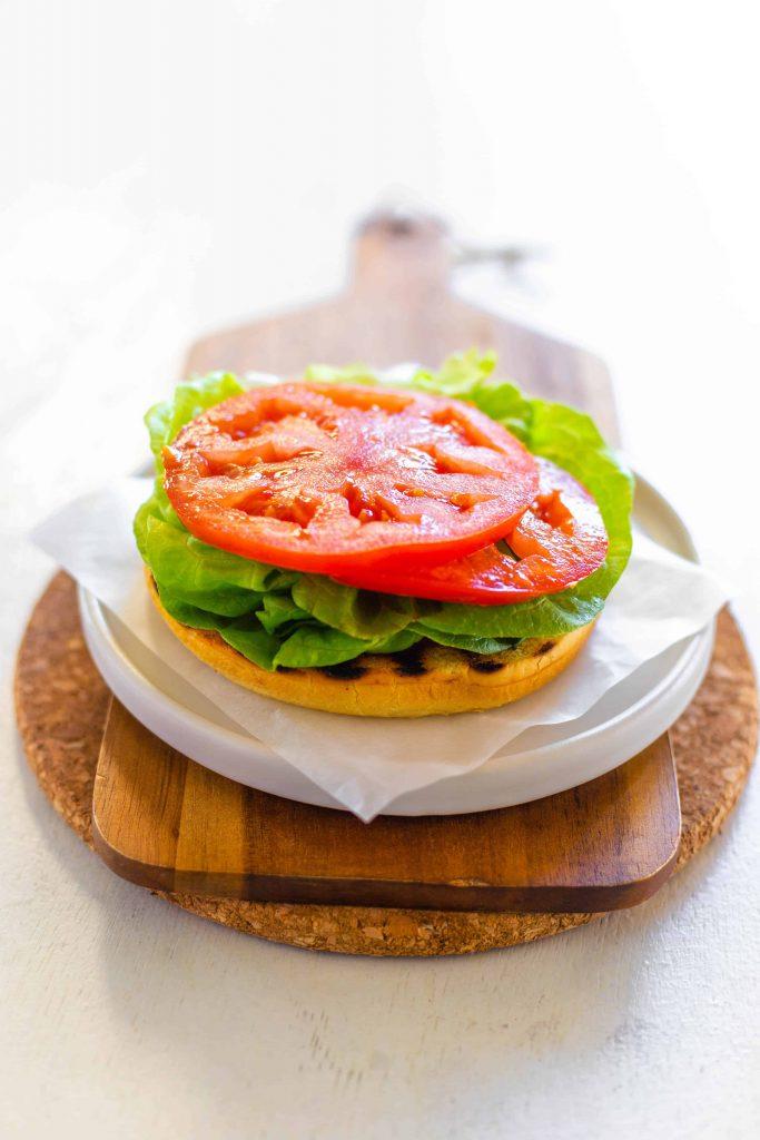 bacon avocado burger assembly image