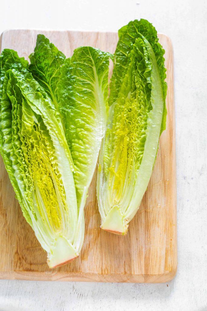 Romaine lettuce sliced