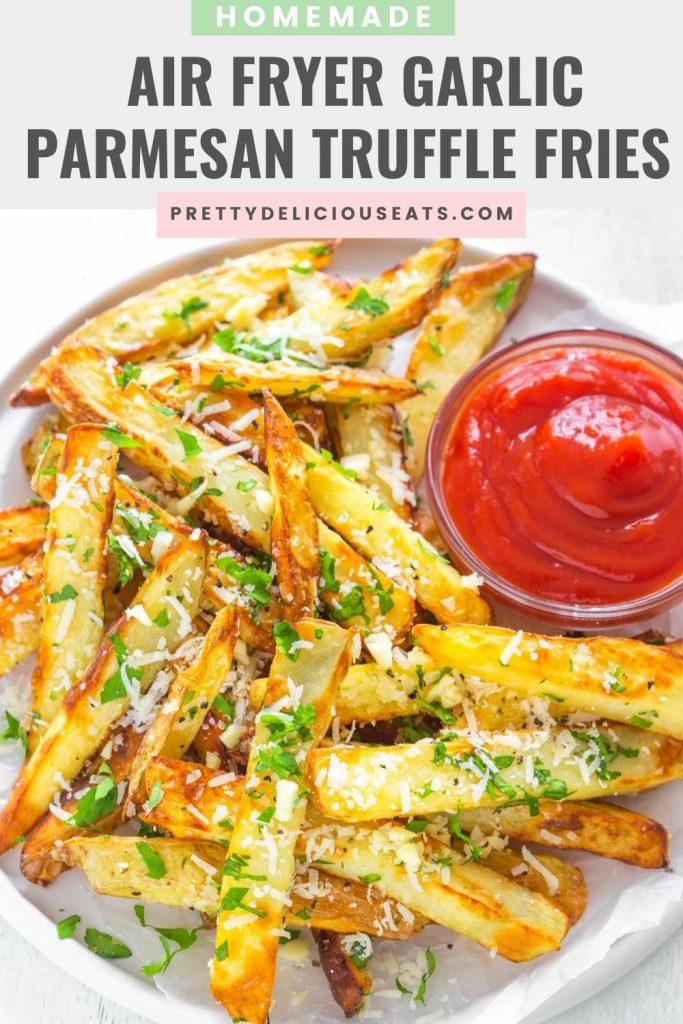 pinterest pin air fryer garlic truffle fries