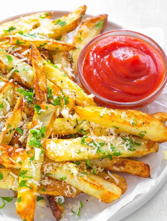 Air Fryer Garlic Parmesan Truffle Fries