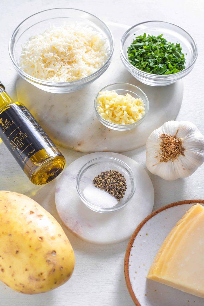 garlic parmesan truffle fries ingredients