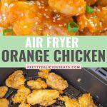 Air Fryer Orange Chicken Pinterest pin