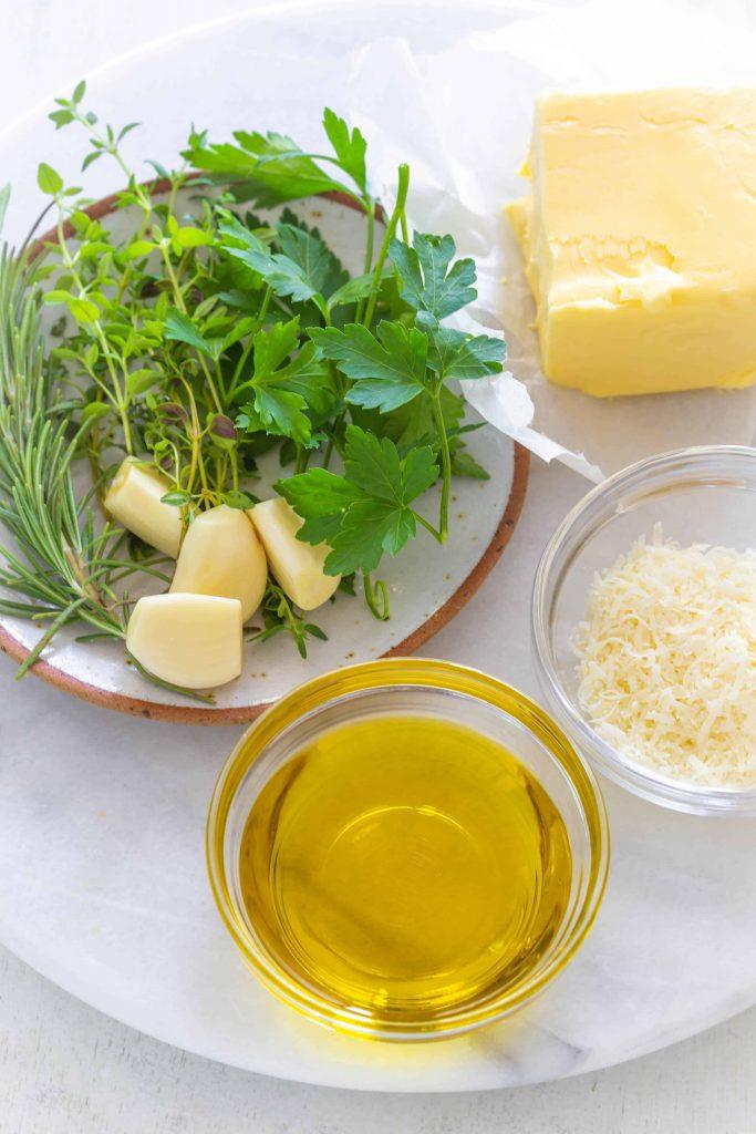 homemade garlic butter ingredients