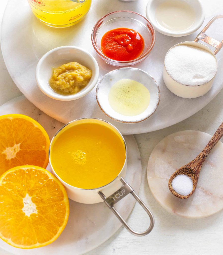 Air fryer orange chicken ingredients for the sauce